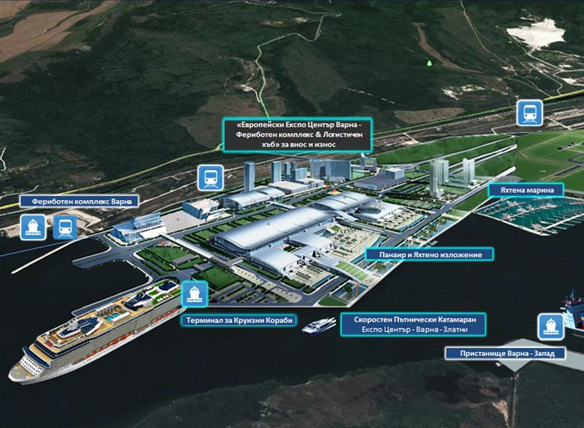 Проект «Европейски Експо Център Варна – Фериботен комплекс&Логистичен Хъб» за внос и износ