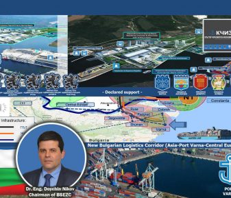"""The project """"Bulgarian Logistics Corridor (Asia-Port Varna-Central Europe)"""" – EU Gateway of the Black Sea Economic Zone Cluster (BSEZC) is set for implementation until 2027 in the Integrated Territorial Strategy for Development of the Northeast Region (NER) of Bulgaria"""